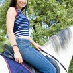 Equestrian on horseback — Stock Photo #3460426