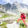 Royalty-Free Stock Photo: Woman backpacker in High Tatras