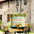 Wine-press, Chatenois, Alsace, France - Stok fotoraf