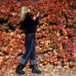 Stock Photo: Woman in autumn