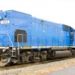 Motor locomotive; South Paris; Maine; USA - Stock Photo