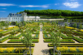 Villandry Castle with garden, Indre-et-Loire, France — Stock Photo