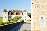 Clos blanc de vougeot castelo, borgonha, frança — Foto Stock