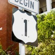 Beginning of the road number 1, Key West, Florida, USA — Stock Photo