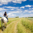 Equestrian on horseback — Stock Photo #3519158