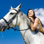 Equestrian on horseback — Stock Photo #3519164