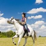 Equestrian on horseback — Stock Photo #3519166