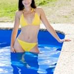 Woman in swimming pool — Stock Photo #3519170