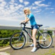 Woman biker, Czech Republic — Stock Photo