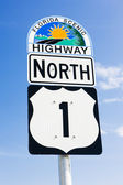 The road number 1, Florida Keys, Florida, USA — Stock Photo