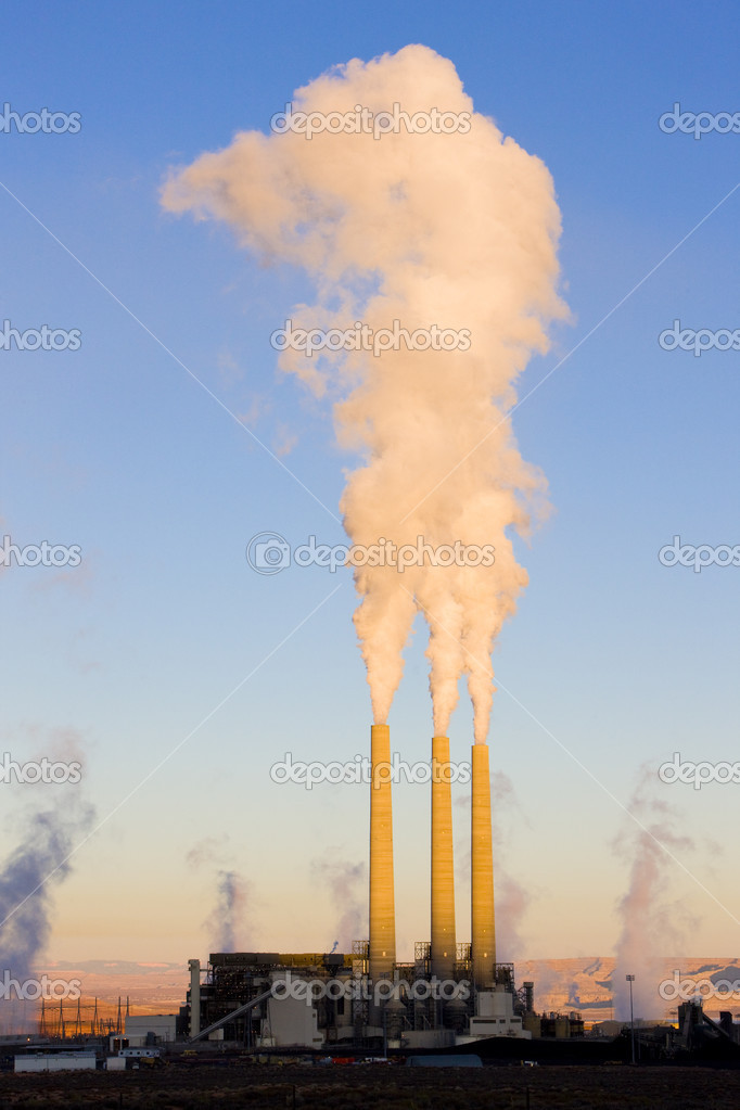Power plant in Page, Arizona, USA  Stock Photo #3512099