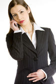 Telephoning businesswoman — Stock Photo