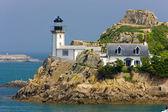Lighthouse, Pointe de Pen al Lann, Brittany, France — Stock Photo