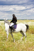 Equestrian on horseback — Foto de Stock