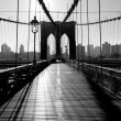 Brooklyn Bridge, Manhattan, New York City, USA - Stock Photo