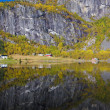Landscape near Otta river, Norway — Stock Photo