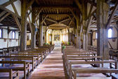 Interior of church in Outines, Champagne, France — Stock Photo