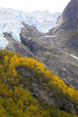 Supphellebreen glaciar, parque nacional de jostedalsbreen, noruega — Foto Stock