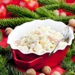 Traditional Czech Christmas potato salad — Stock Photo #3639378