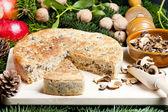 特别的圣诞蘑菇酥皮点心 — 图库照片