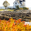 Lighthouse, Prospect Harbour Point Light, Maine, USA — Stock Photo