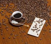 Coffee with sugar — Stock Photo