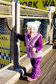 Small girl on walk, New York City, USA — Stock Photo