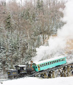 Mount Washington Cog Railway, Bretton Woods, New Hampshire, USA — Stock Photo