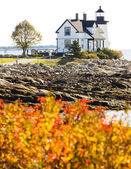 Lighthouse, Prospect Harbour Point Light, Maine, USA — Stock Photo