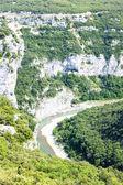 Ardeche Gorge, Rhone-Alpes, France — Stock Photo