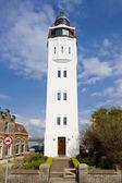 フリースラント州ハーリンゲン、灯台、オランダ — ストック写真