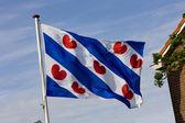 The Friesland flag, Netherlands — Stock Photo