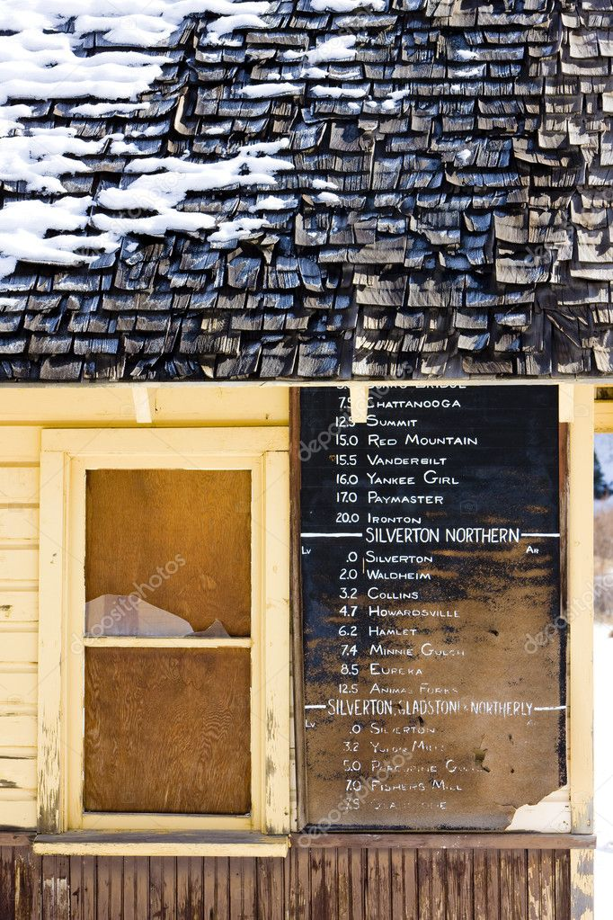 Timetable, Silverton, Colorado, USA — Stock Photo #3739034
