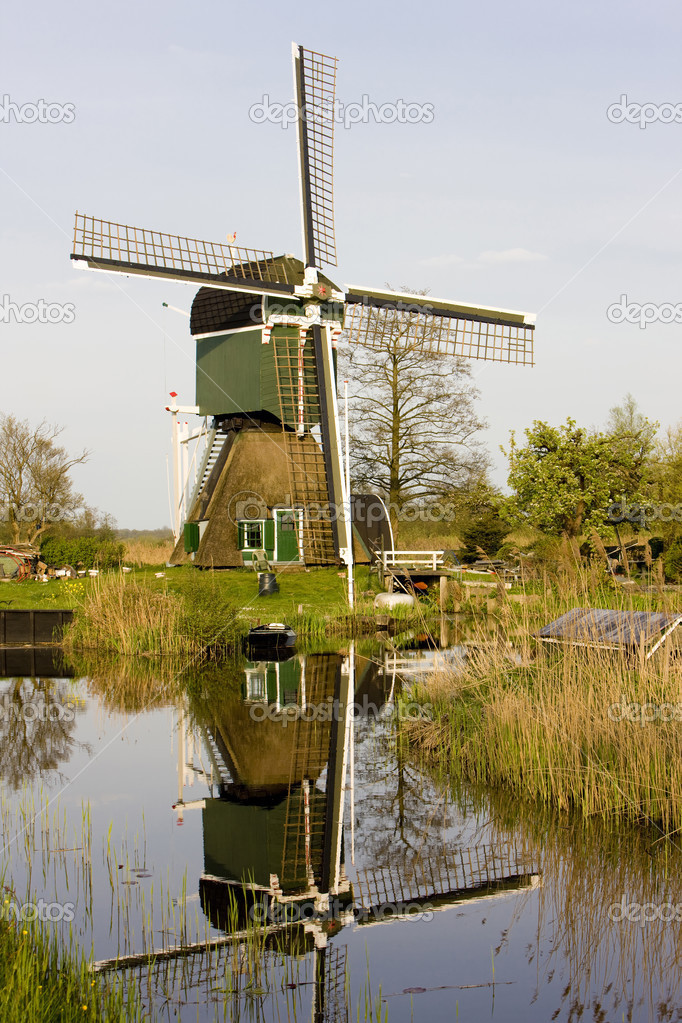 Windmill, Tienhoven, Netherlands — Stock Photo #3739706