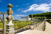 Villandry Castle with garden — Stock Photo