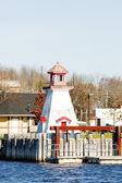 Lighthouse on the Canadian border, Calais, Maine, USA — Stock Photo