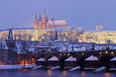 Prag im winter — Stockfoto