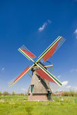 Windmill, Ooievaarsdorp, Netherlands — Stock Photo