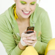 Woman with mobile phone — Stock Photo #3834764