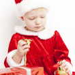 Little girl as Santa Claus — Stock Photo