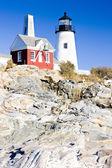 Lighthouse Pemaquid Point Light — Stock Photo