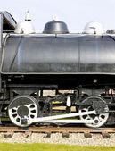 Détail de la locomotive à vapeur — Photo