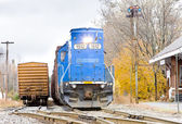 Train with motor locomotive — Stock Photo
