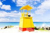Cabin on the beach, Barbados — Stock Photo