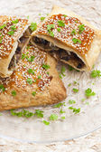 Champignons puff pocket — Stock Photo