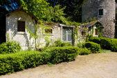 Courtyard av cinq-mars-la-högen slott — Stockfoto