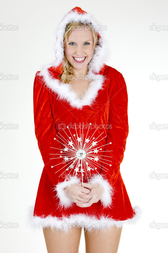 Santa Claus with Christmas decoration  Stock Photo #3942379