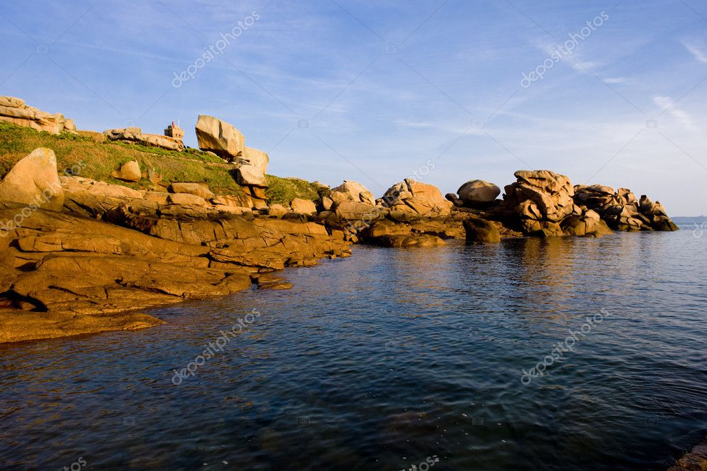Coast, Ploumanac'h, Brittany, France — Stock Photo #3949905