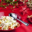 Stock Photo: Christmas potato salad