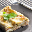 Stock Photo: Spinach lasagne